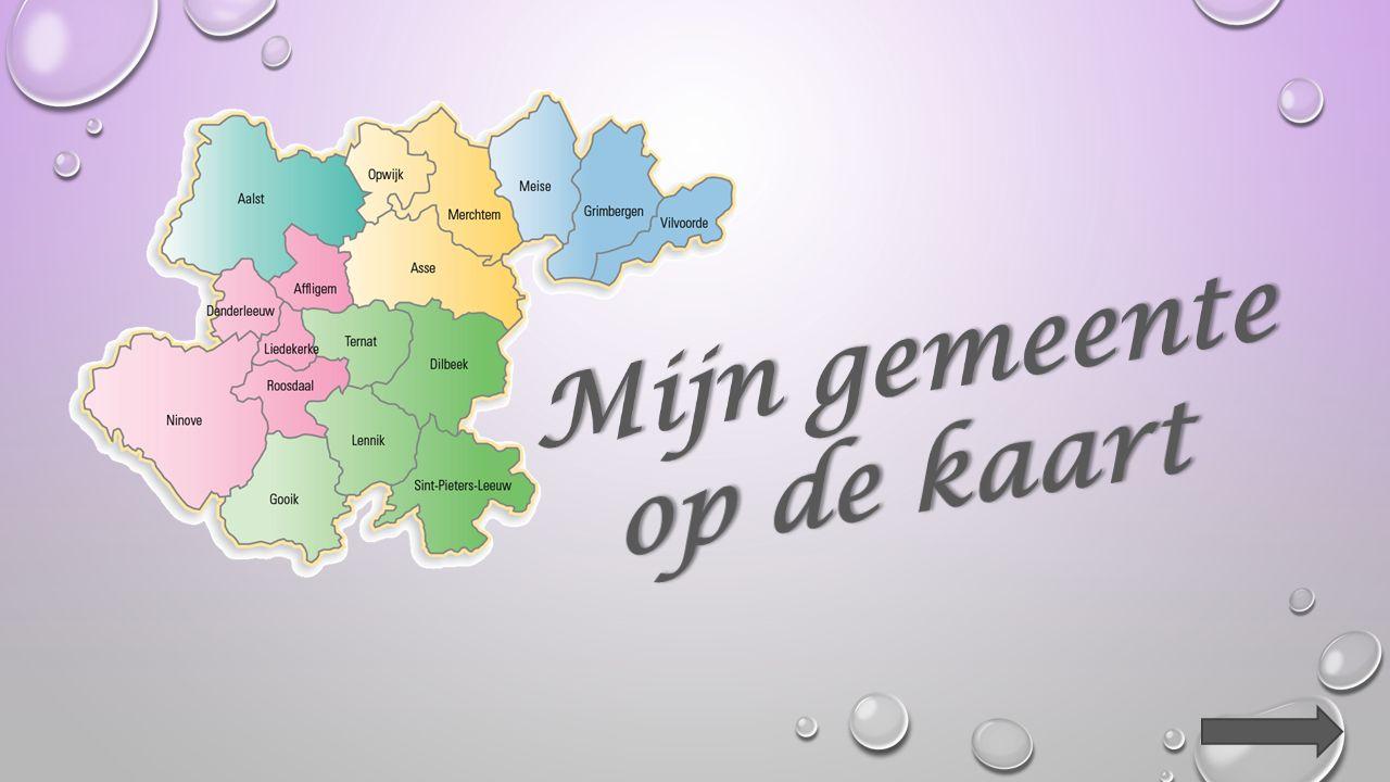 2.Overtrek op de kaart met geel de lijnen van het kaartvak waarin het centrum van de volgende gemeenten ligt : Halle – Vilvoorde – Affligem – Tienen – Diest.