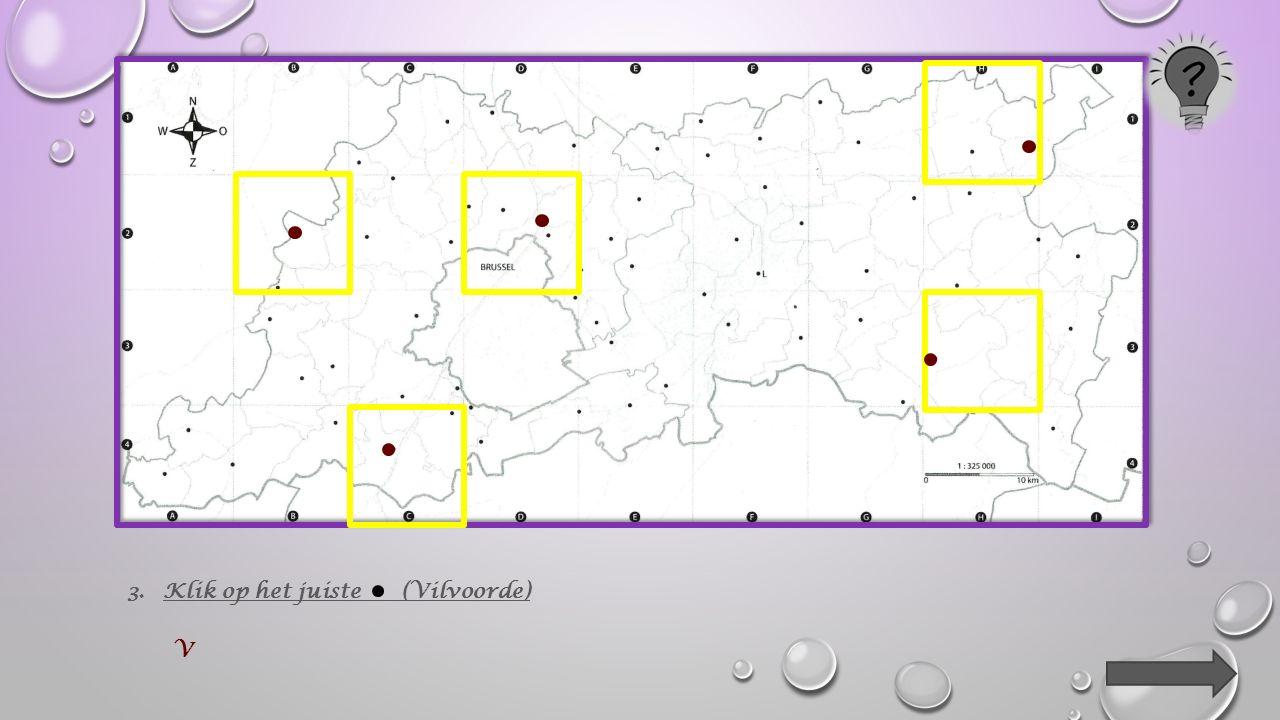 2.Klik op de lijnen van het kaartvak waarin het centrum van de volgende gemeente ligt : Diest.