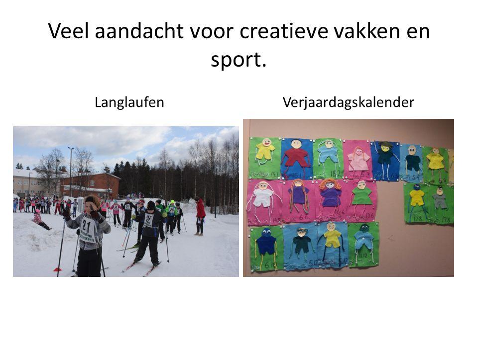 Veel aandacht voor creatieve vakken en sport. LanglaufenVerjaardagskalender