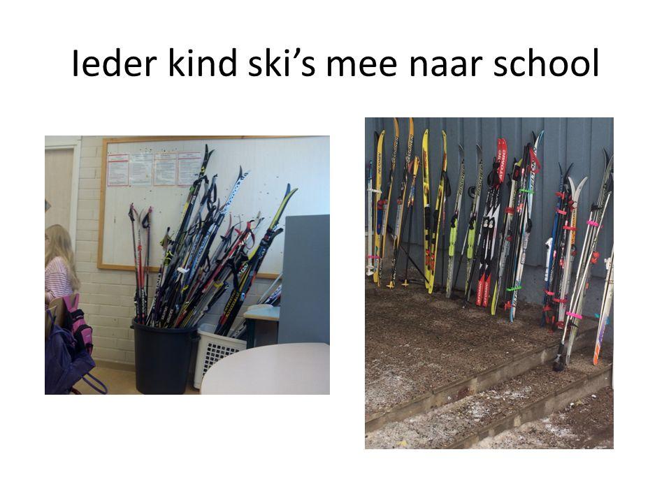 Ieder kind ski's mee naar school