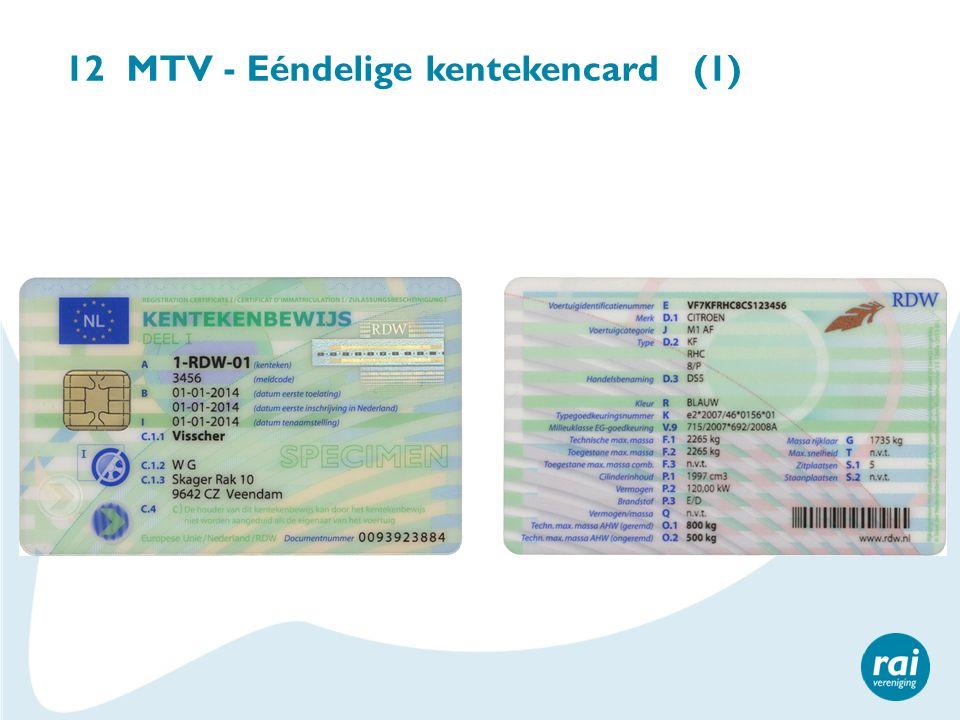 12 MTV - Eéndelige kentekencard (1)