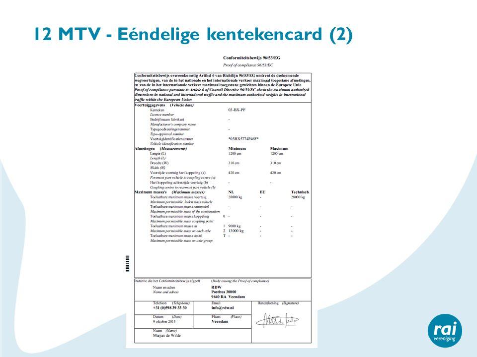 12 MTV - Eéndelige kentekencard (2)