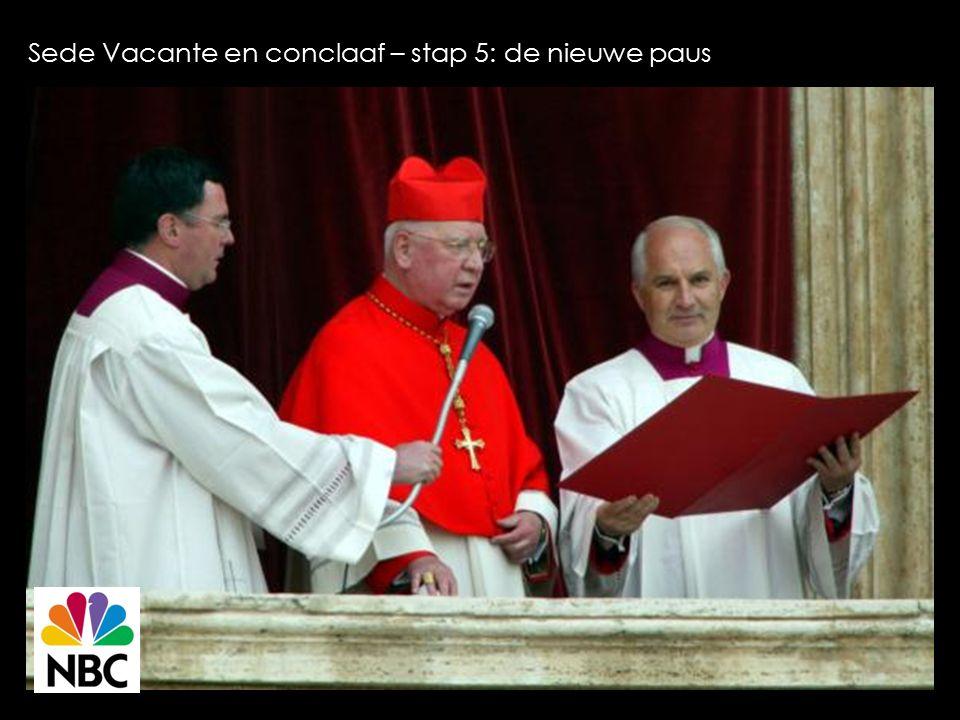 Sede Vacante en conclaaf – stap 5: de nieuwe paus