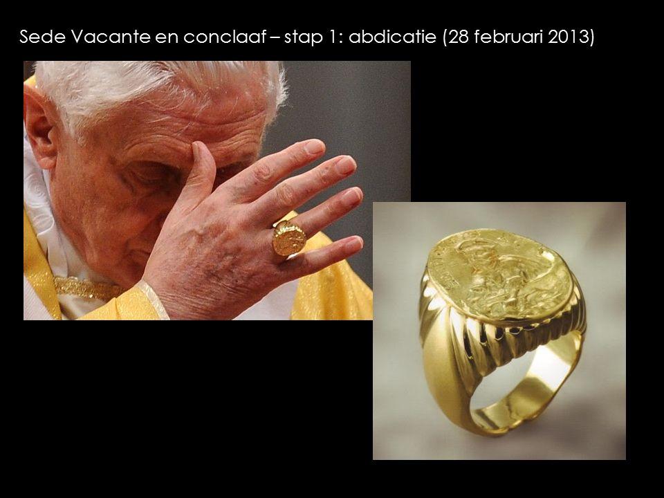Sede Vacante en conclaaf – stap 1: abdicatie (28 februari 2013)