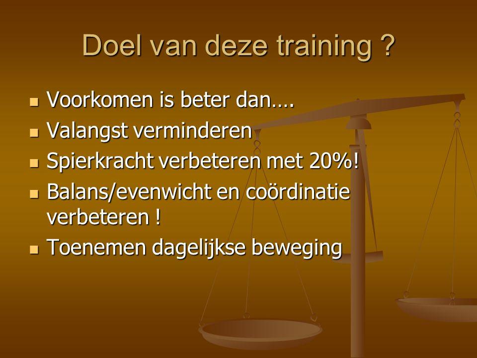 Doel van deze training . Voorkomen is beter dan….