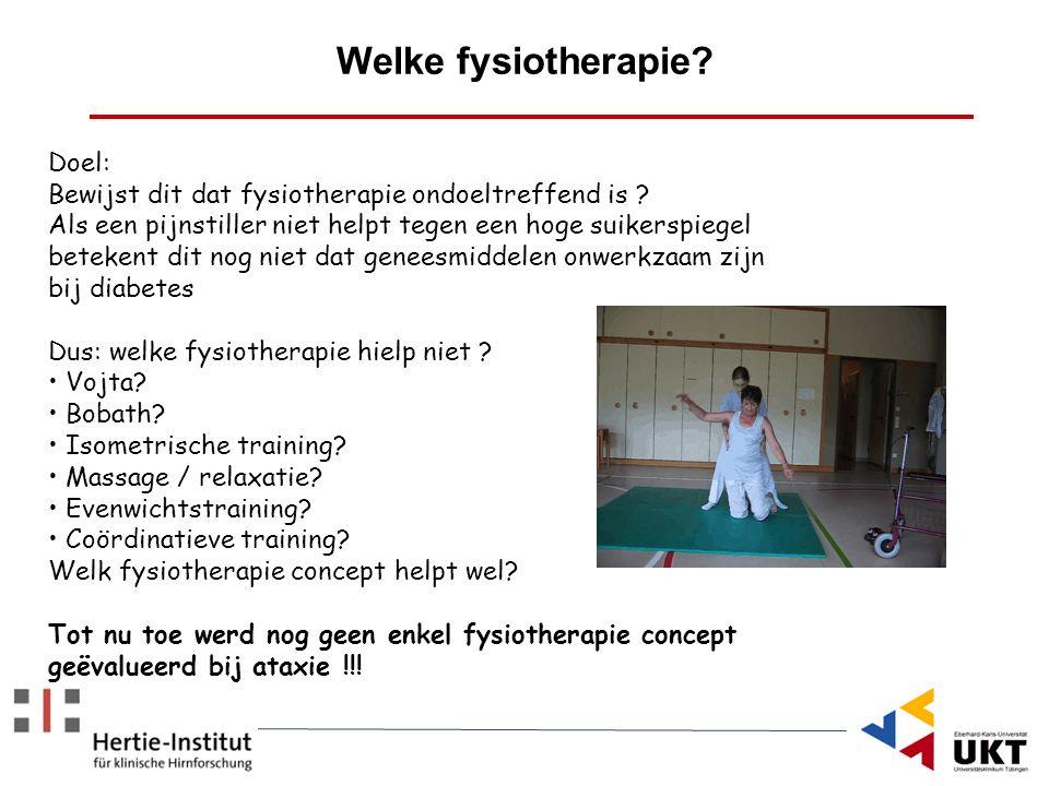 Doel: Bewijst dit dat fysiotherapie ondoeltreffend is ? Als een pijnstiller niet helpt tegen een hoge suikerspiegel betekent dit nog niet dat geneesmi