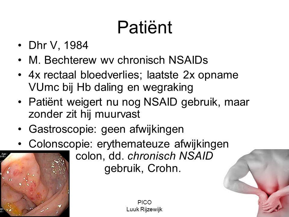PICO Luuk Rijzewijk Patiënt Dhr V, 1984 M.