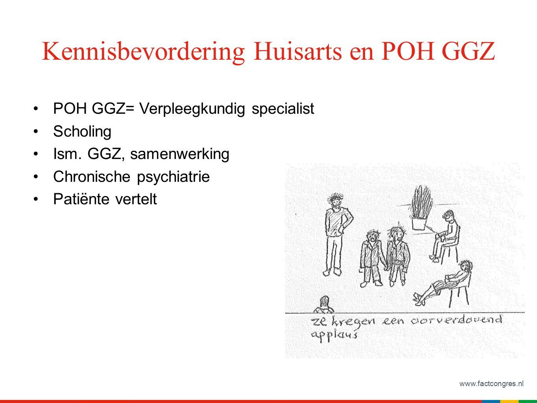 www.factcongres.nl Kennisbevordering Huisarts en POH GGZ POH GGZ= Verpleegkundig specialist Scholing Ism.