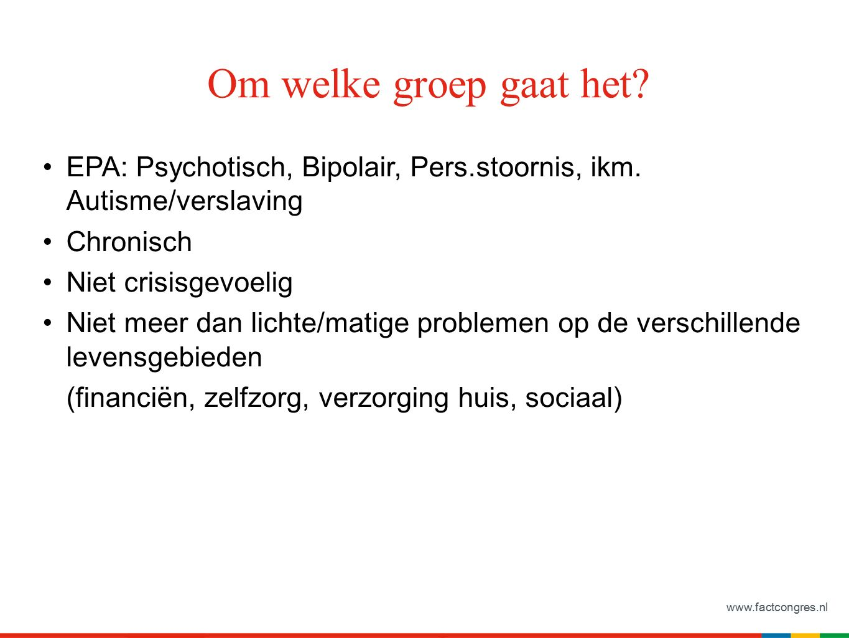 www.factcongres.nl EPA: Psychotisch, Bipolair, Pers.stoornis, ikm.