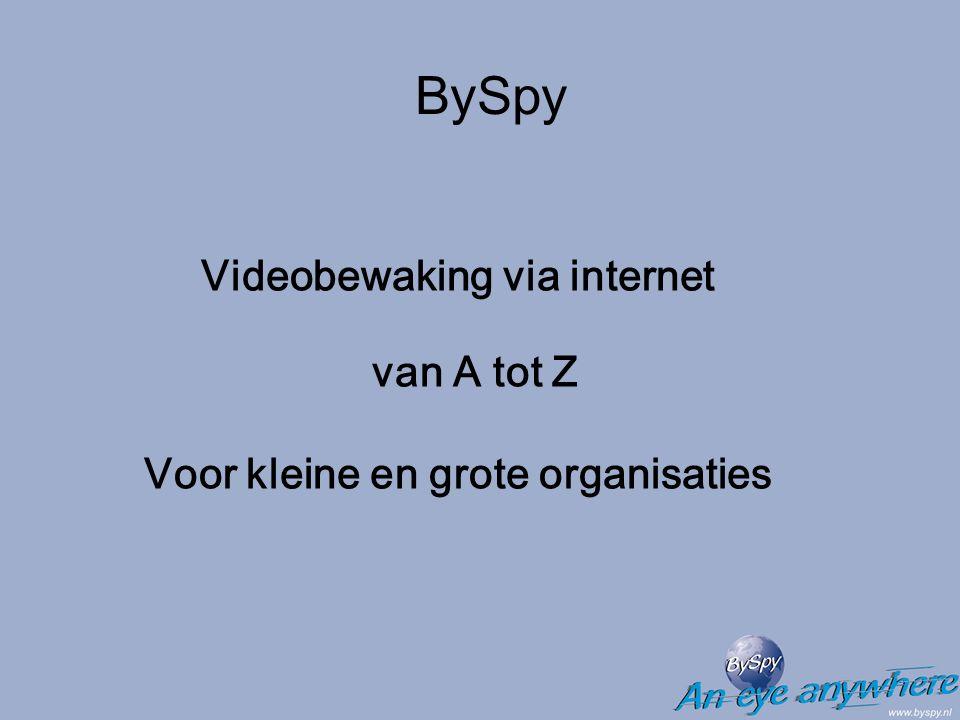 BySpy is draadloos Ook draadloos uw pand of terrein controleren.
