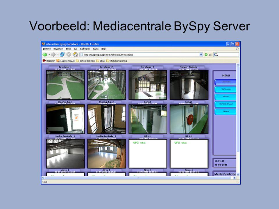 Voorbeeld: Mediacentrale BySpy Server