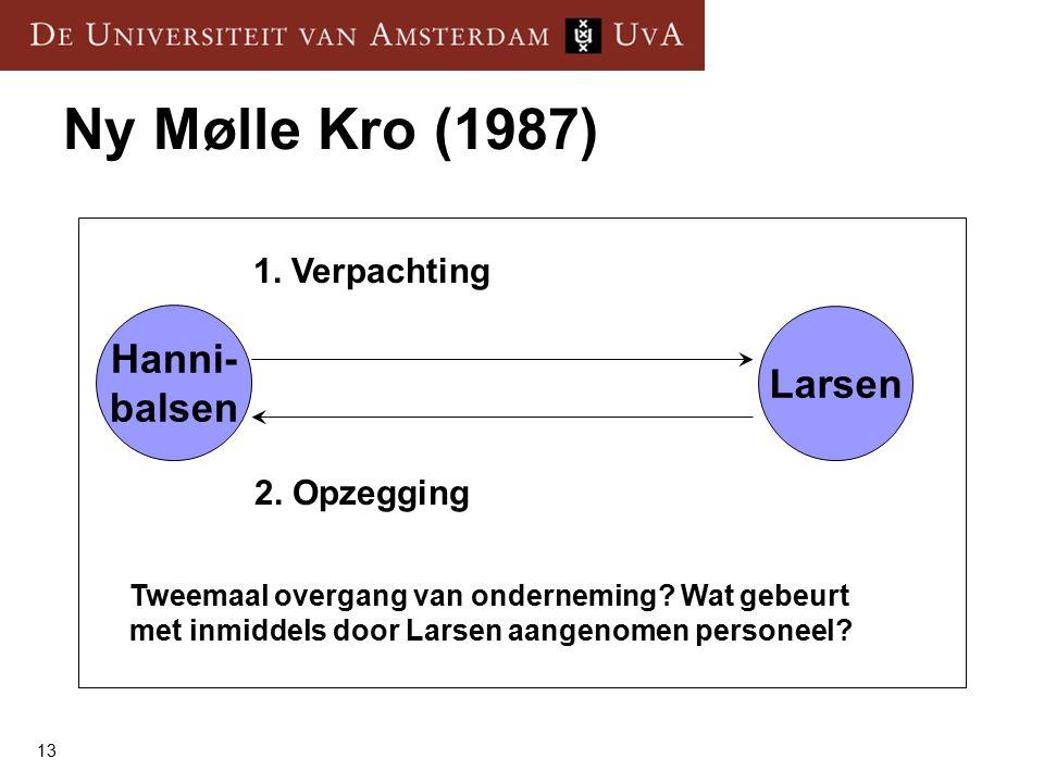 13 Ny Mølle Kro (1987) Larsen Hanni- balsen 1. Verpachting 2.