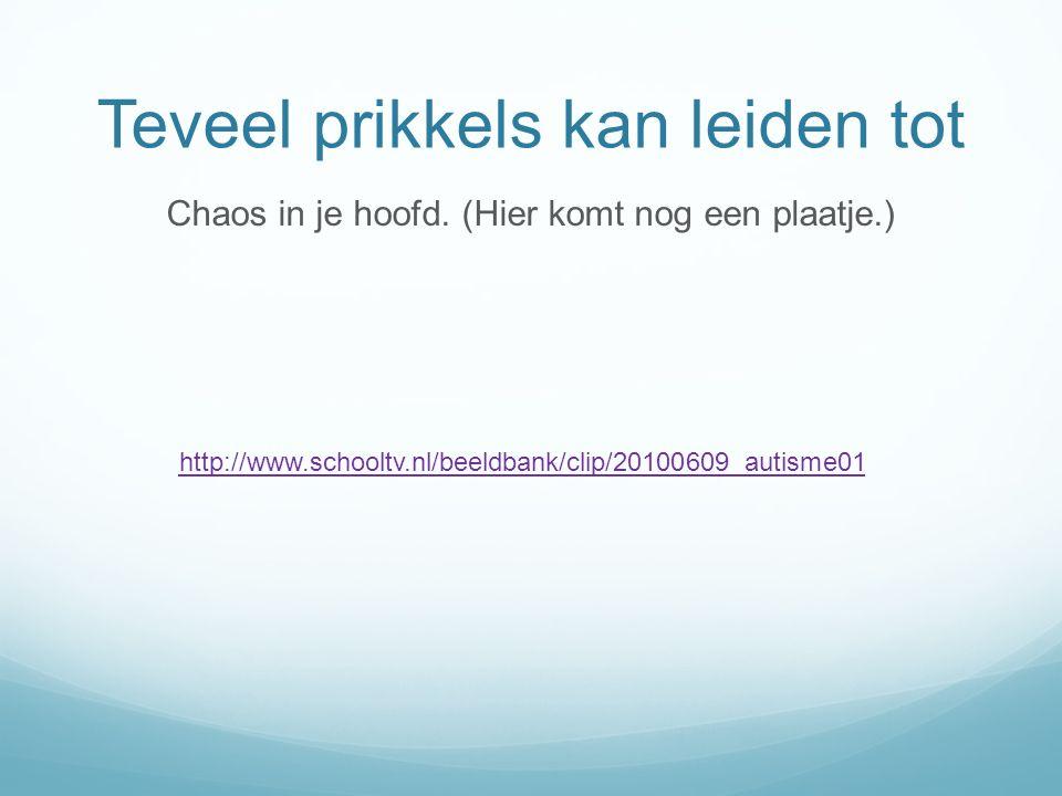 Teveel prikkels kan leiden tot Chaos in je hoofd. (Hier komt nog een plaatje.) http://www.schooltv.nl/beeldbank/clip/20100609_autisme01