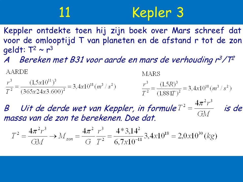 10 Gravitatiewet: g uit aardmassa! F grav M r m Newton ontdekte de gravitatiewet: 2 massa's M en m op afstand r trekken elkaar aan volgens de regel: h