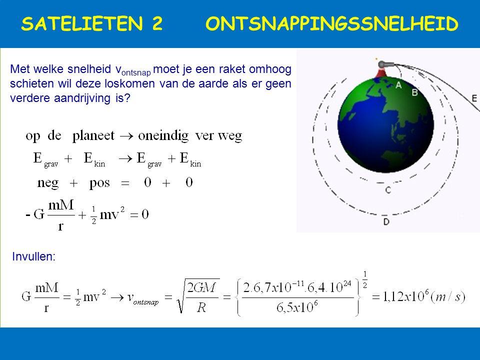 SATELLIETEN 1 GEOSTATIONAIR Geostationaire satellieten draaien in 24 u hun rondjes boven een vaste plek op aarde. Bewijs dat dit alleen kan op een hoo