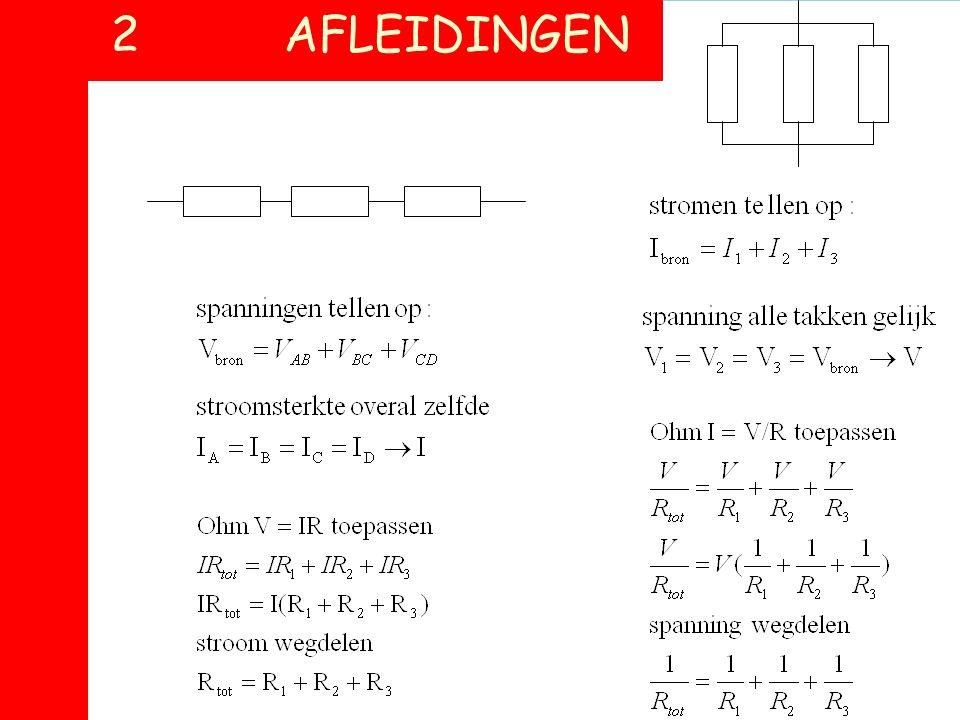 Spanning = afgegeven energie per lading Stroom = passerende lading per sec Weerstand = stroomstopper Vermogen = afgegeven energie per sec Draadweersta