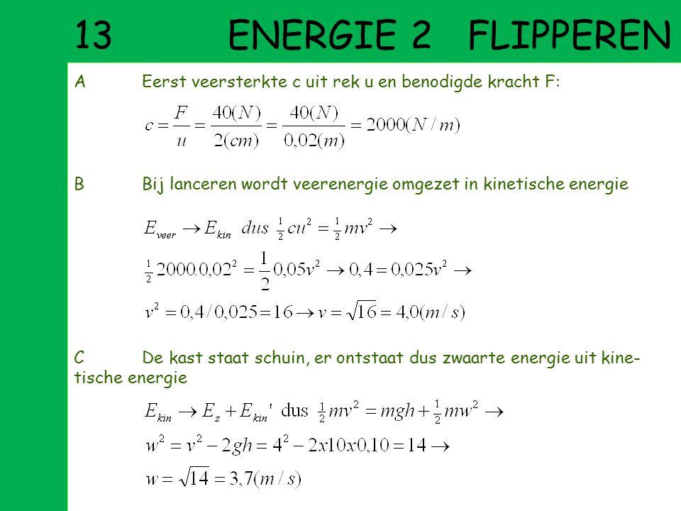 12 ENERGIE 1 MAFFE VISSEN AHet vernietigen van de boot door de vis is te zien als het omzetten van kinetische energie in warmte, je kunt de remkracht