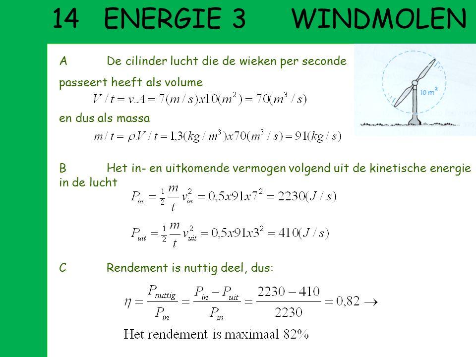 13 ENERGIE 2 FLIPPEREN AEerst veersterkte c uit rek u en benodigde kracht F: BBij lanceren wordt veerenergie omgezet in kinetische energie CDe kast st