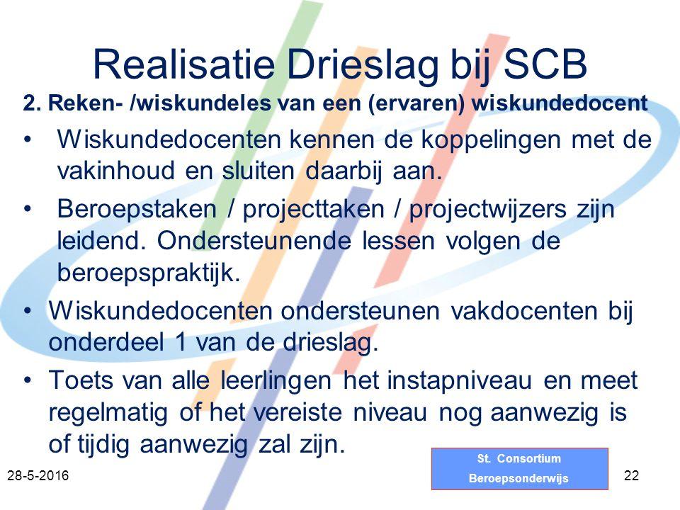 St.Consortium Beroepsonderwijs Realisatie Drieslag bij SCB 2.