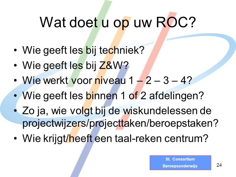 St.Consortium Beroepsonderwijs Wat doet u op uw ROC.