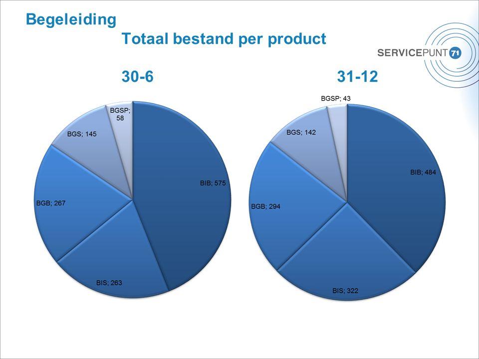 Begeleiding Totaal bestand per product 30-631-12