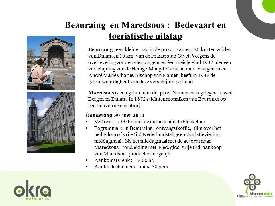 Beauraing en Maredsous : Bedevaart en toeristische uitstap Beauraing, een kleine stad in de prov.