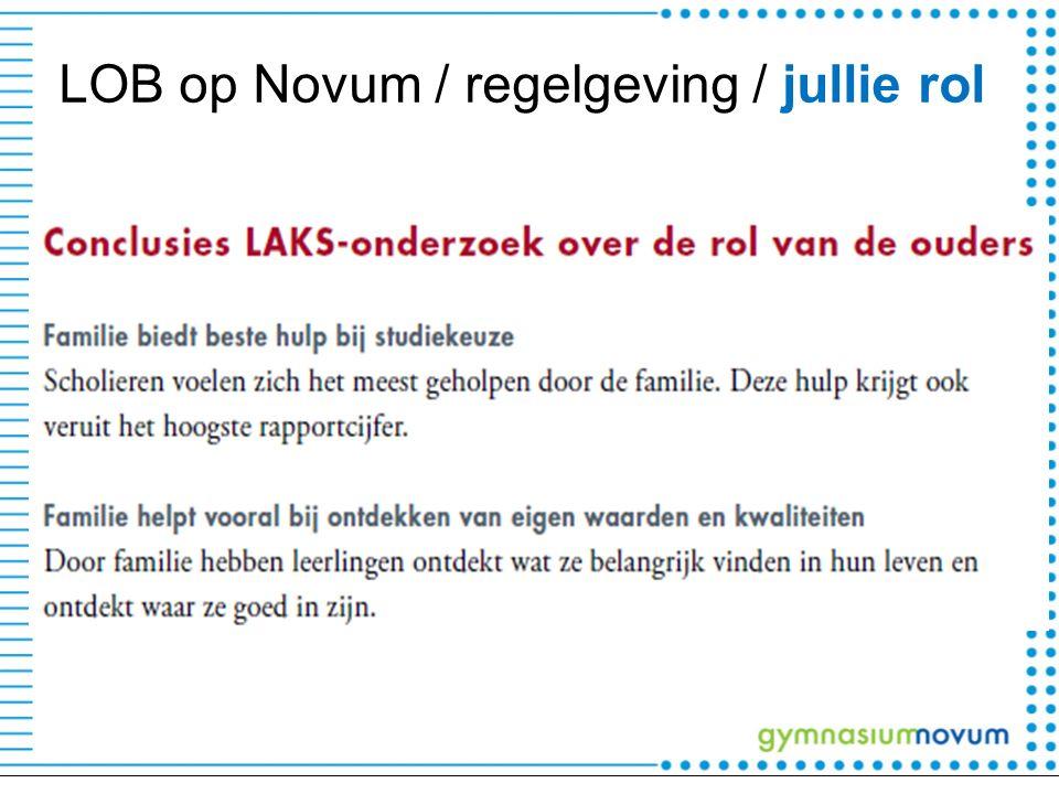 LOB op Novum / regelgeving / jullie rol