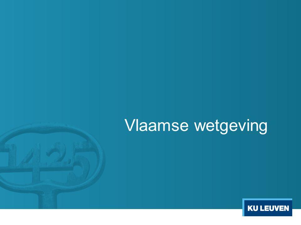 Vlaamse wetgeving