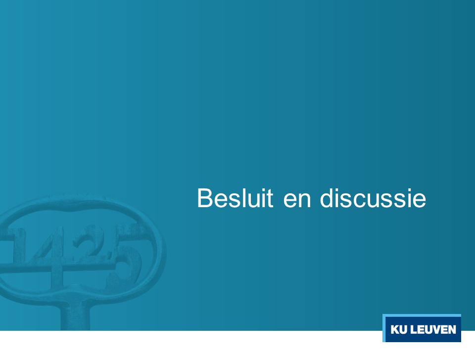 Besluit en discussie