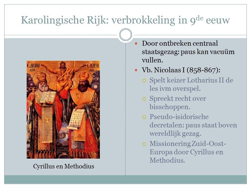Heilig Roomse Rijk der Duitse Natie: 10 e E.Otto I  Herstel rijk Karel.