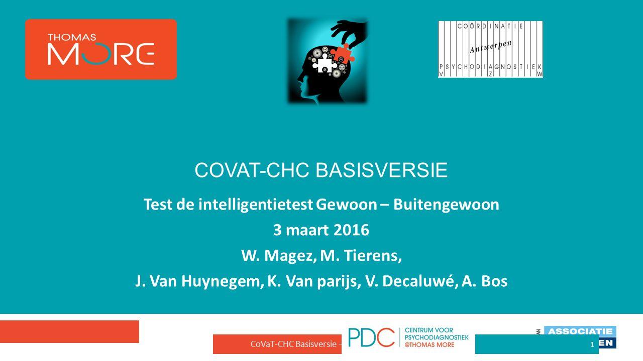 Test de intelligentietest Gewoon – Buitengewoon 3 maart 2016 W.