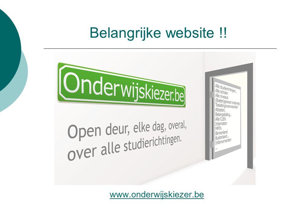 39 Belangrijke website !! www.onderwijskiezer.be