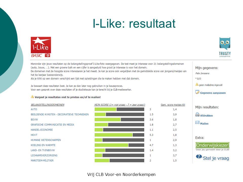 I-Like: resultaat Vrij CLB Voor-en Noorderkempen