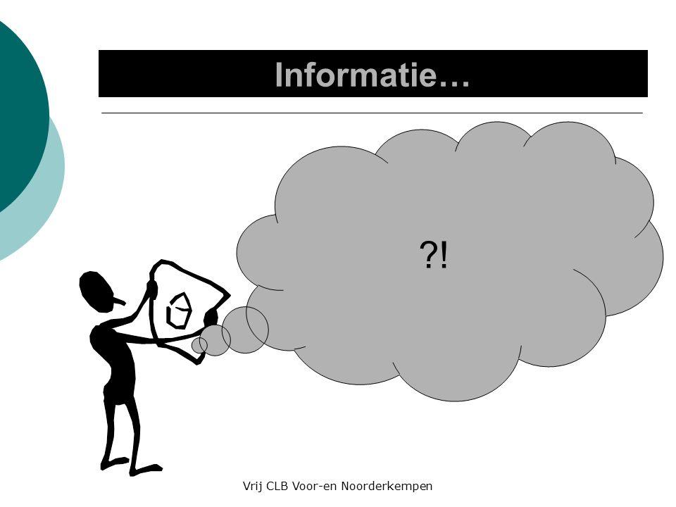 Informatie… ! Vrij CLB Voor-en Noorderkempen