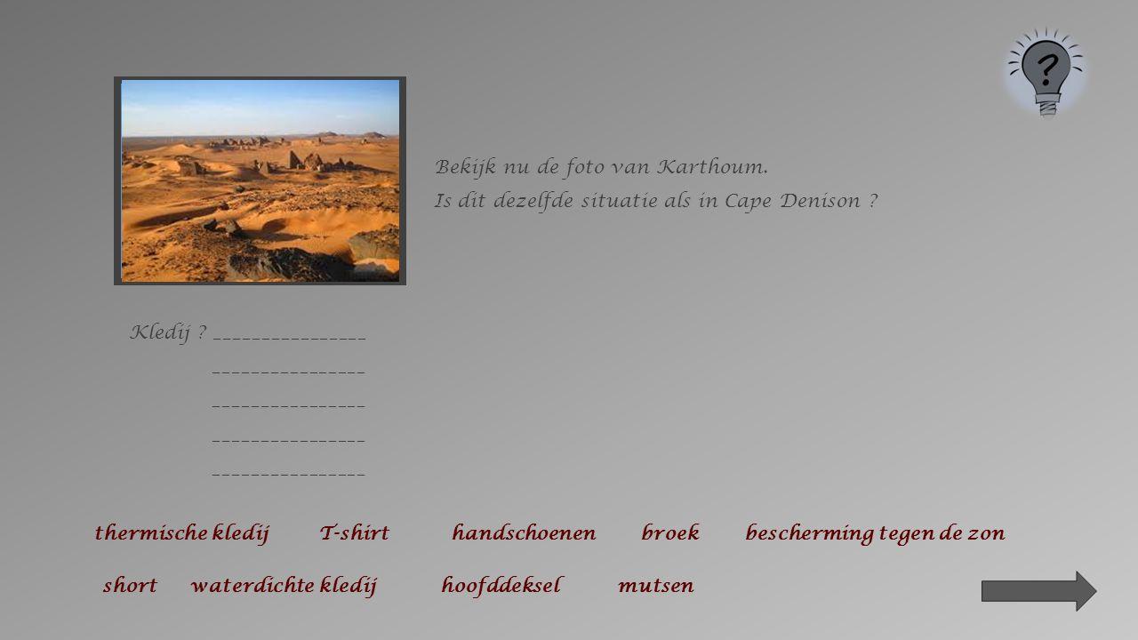 Bekijk de foto van Cape Denison aandachtig.