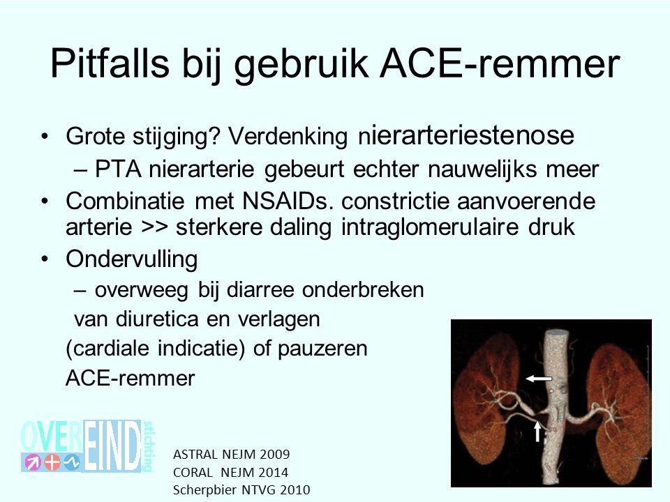 Pitfalls bij gebruik ACE-remmer Grote stijging.