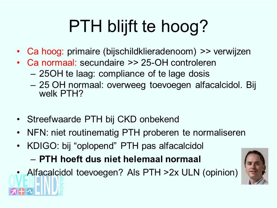 PTH blijft te hoog.
