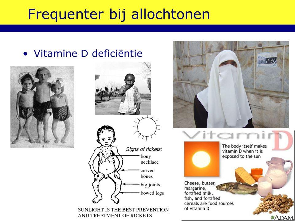 Frequenter bij allochtonen Vitamine D deficiëntie