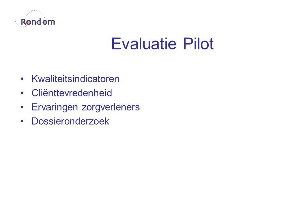 Evaluatie Pilot Kwaliteitsindicatoren Cliënttevredenheid Ervaringen zorgverleners Dossieronderzoek