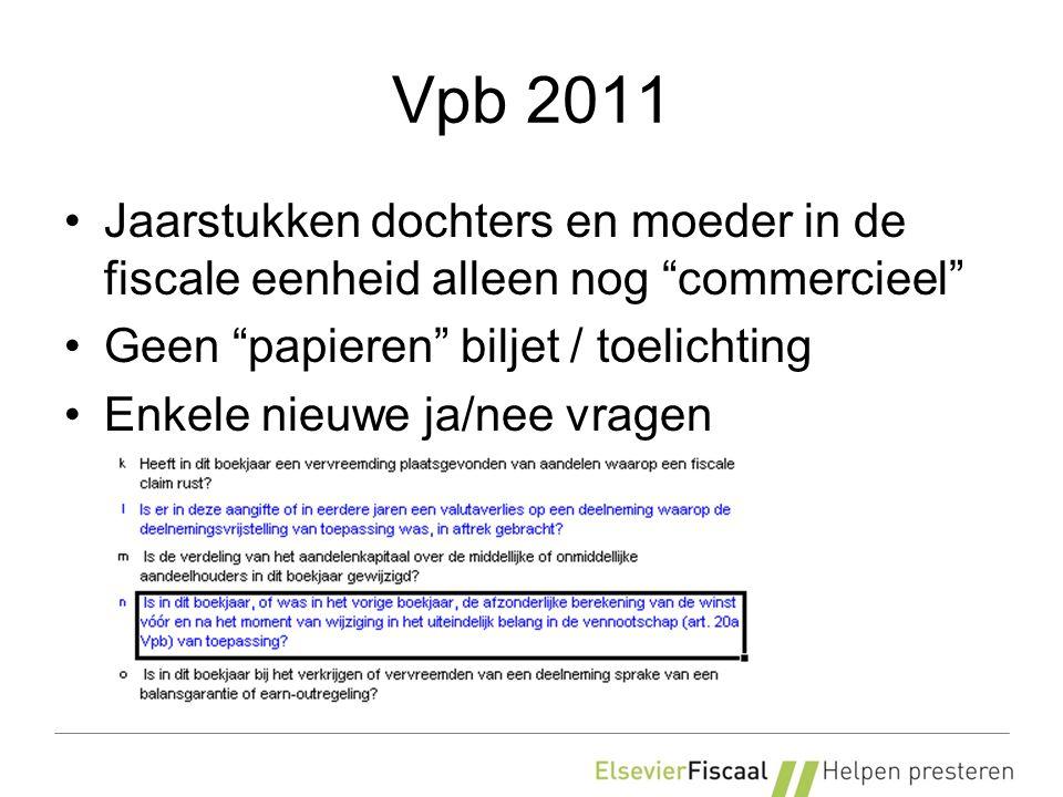 Vpb 2011 Winstsplitsing bij belangenwijziging
