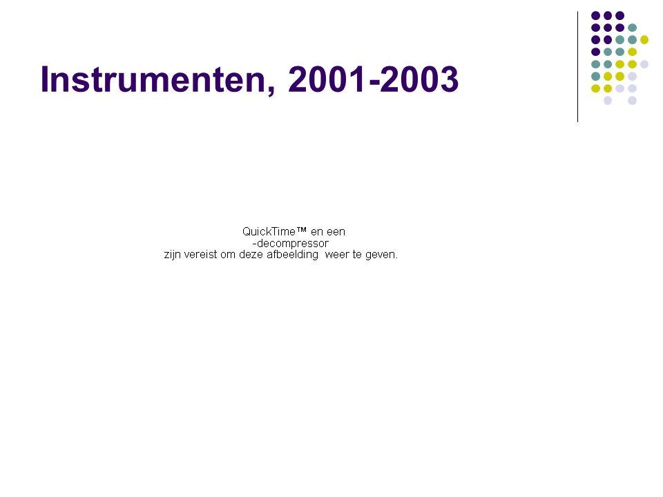 Instrumenten, 2001-2003