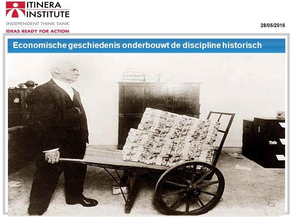 28/05/2016 Economische geschiedenis onderbouwt de discipline historisch
