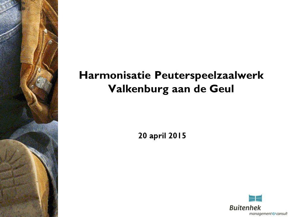 Harmonisatie Peuterspeelzaalwerk Valkenburg aan de Geul 20 april 2015
