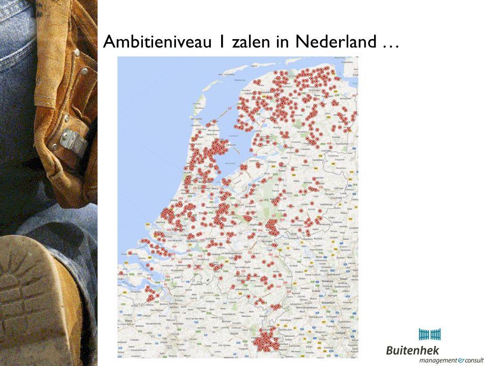 Ambitieniveau 1 zalen in Nederland …