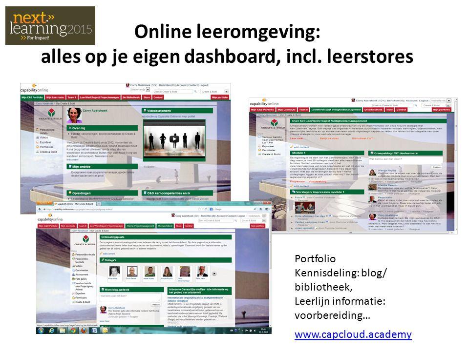 Online leeromgeving: alles op je eigen dashboard, incl.