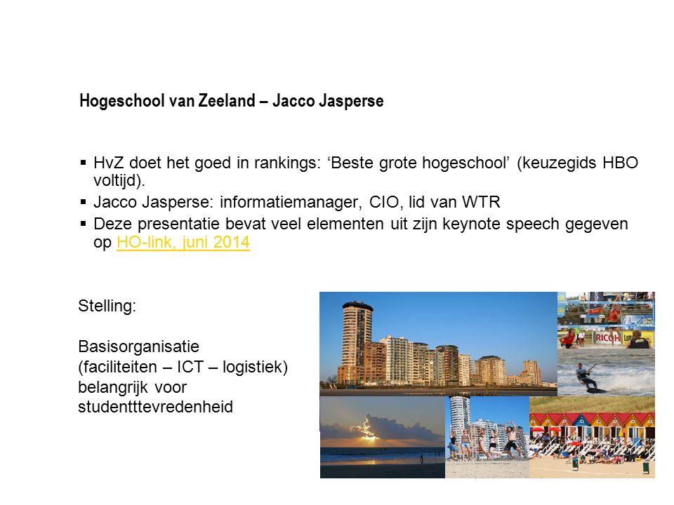 Hogeschool van Zeeland – Jacco Jasperse  HvZ doet het goed in rankings: 'Beste grote hogeschool' (keuzegids HBO voltijd).  Jacco Jasperse: informati