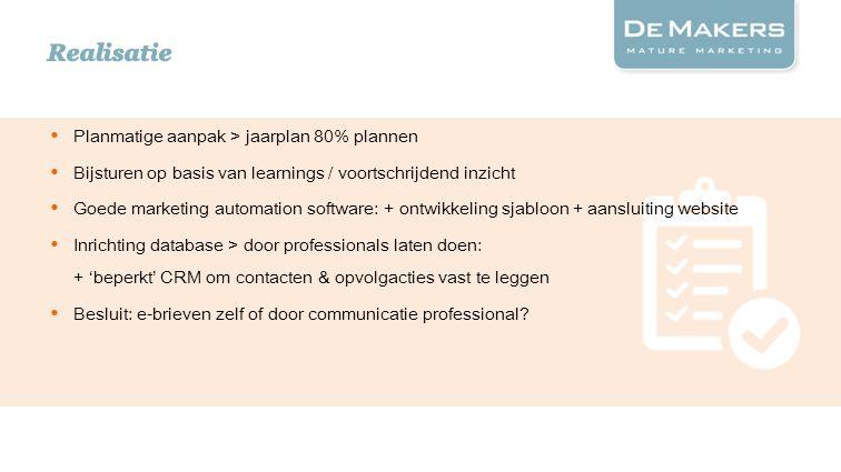 Huidige website Actieplanleerbanen.nl Online brochure i.p.v.