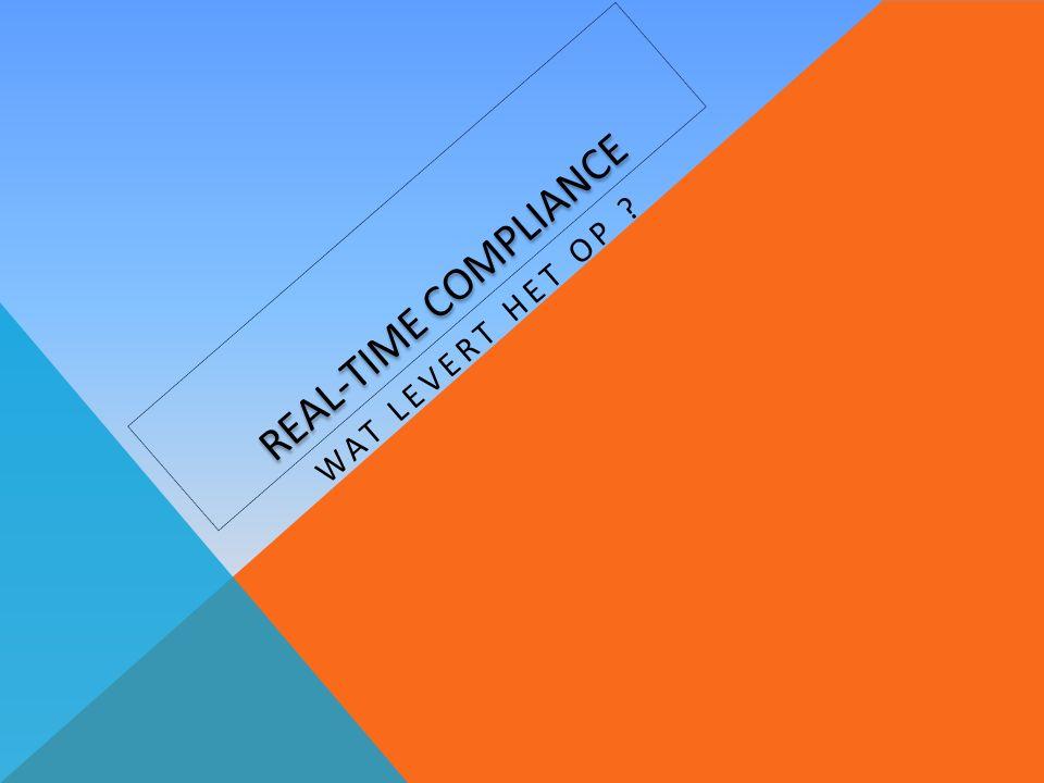 REAL-TIME COMPLIANCE WAT LEVERT HET OP