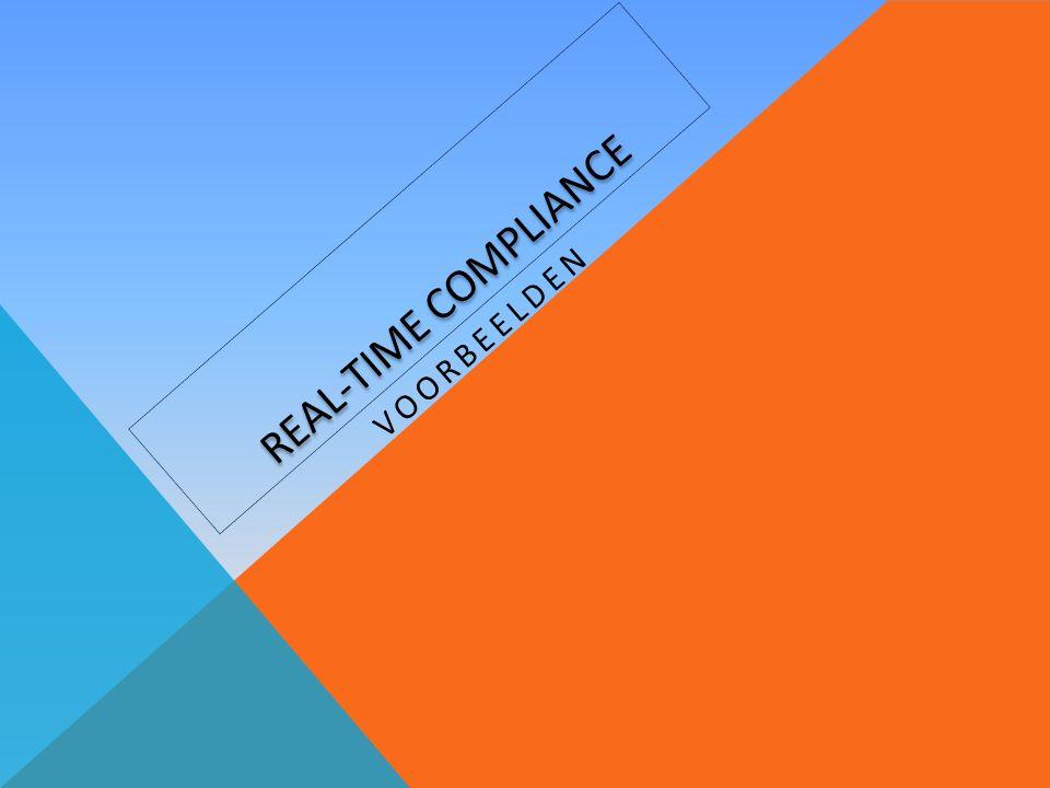 REAL-TIME COMPLIANCE VOORBEELDEN