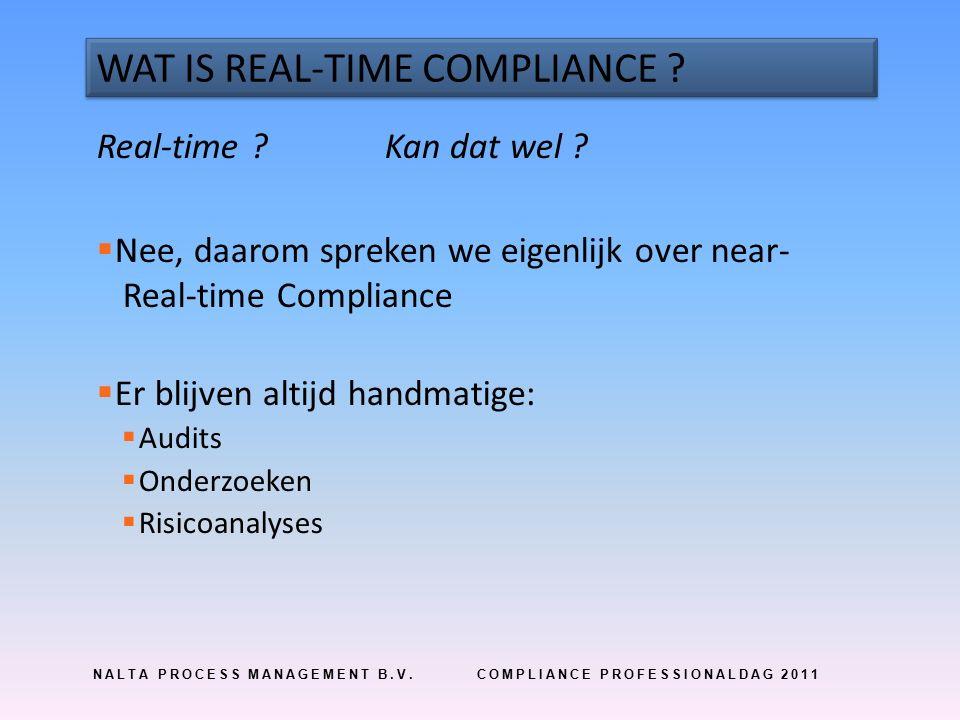 NALTA PROCESS MANAGEMENT B.V.COMPLIANCE PROFESSIONALDAG 2011 VERSNELLING VAN DOORLOOPTIJD